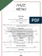 Restaurant Concept Menu 2011