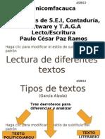 Lectura de Diferentes Textos