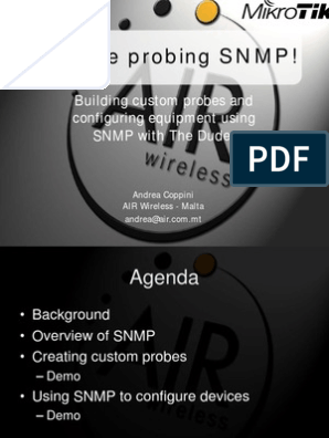 Building Custom Probes and SNMP   Command Line Interface   Internet