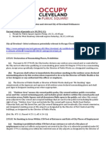 Select Ordinances - Occupy Cleveland, & permit status through 10/22/2011