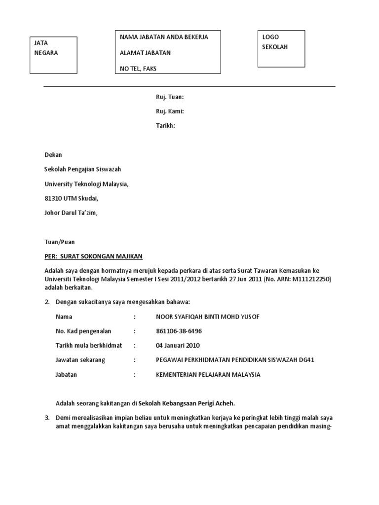 contoh surat rasmi untuk pengetua sekolah surasmi l
