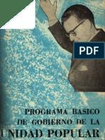 Programa de Gobierno de la Unidad Popular - 1970