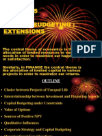 Chapter 15 Capital Budgeting Extensions