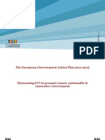 The European eGovernment Action Plan 2011-2015