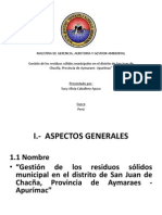 Gestion de Residuos Solidos Maestria UNSA- Cusco