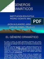 GENEROS DRAMÁTICOS