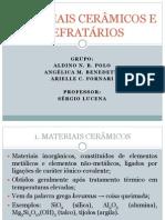 MATERIAIS CERÂMICOS E REFRATÁRIOS
