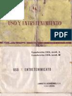 Manual Lambretta 125 LD - 1956