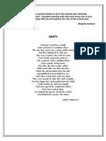 Unity Poem