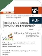 PRINCIPIOS Y VALORES EN LA PRACTICA DE ENFERMERÍA