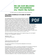Salaams on Our Beloved Prophet Muhammad
