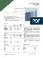 Derivatives Report 21st October 2011
