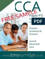 2011 Paper P3 QandA Sample Download v2