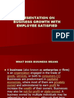 Business Growth With Employee Satisfied