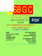 Be IEEE Projects 2011 @ SBGC ( Trichy, Chennai, Madurai, Vellore, Tirupati)