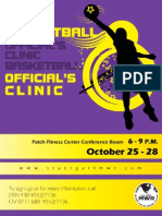 Basketball Official's Clinic