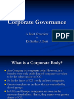 Brief Overview of corporate governance