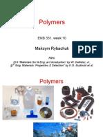 Week 10 - Polymers