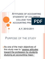 Attitudes of accounting students' of columban college