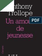 """""""Un amour de jeunesse"""" d'Anthony Trollope"""