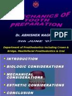 Bio Mechanics of Tooth Preparation