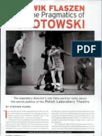 Ludwik Flaszen and the Pragmatics of Grotowski