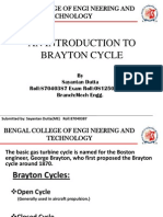 An Introduction to Brayton Cycle