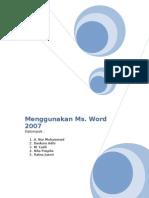 Mempergunakan Microsoft Word 2007