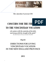 Directions of Actions of the New England Province by Rev. Jaroslaw Lawrenz CM