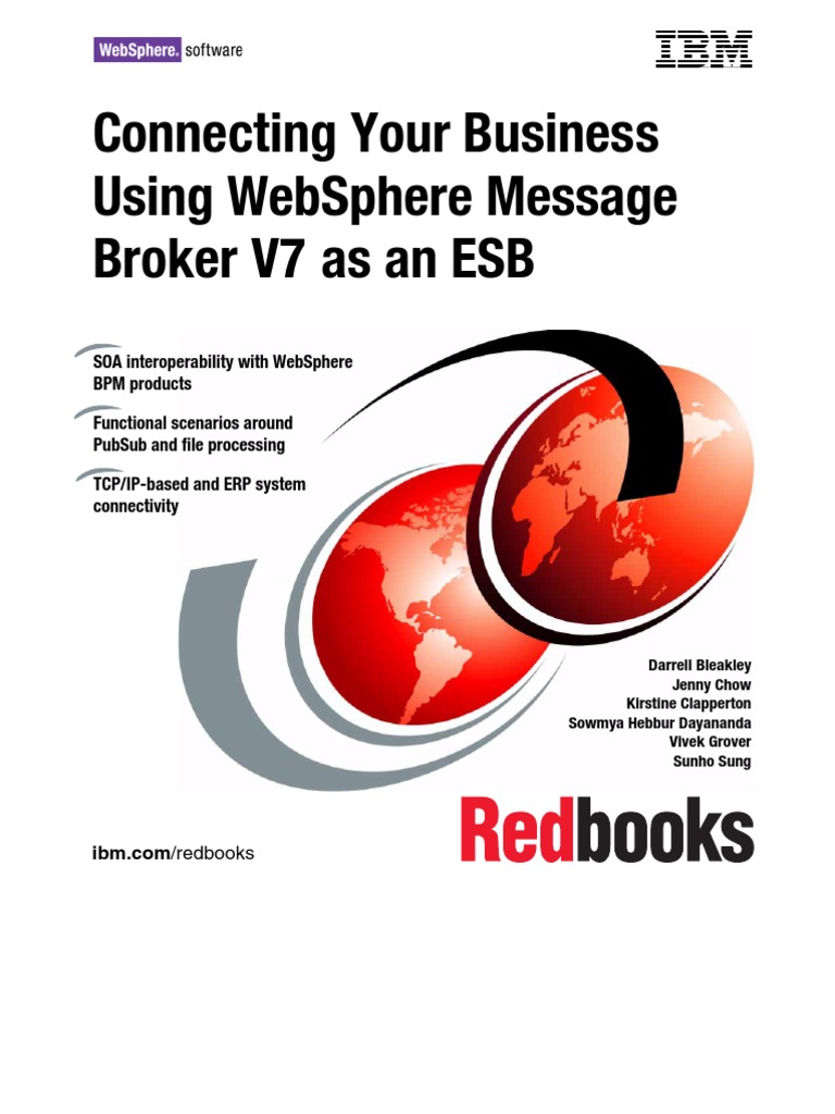 Connecting Your Business Using IBM WebSphere Message Broker V7 As - Websphere Message Broker Cover Letter