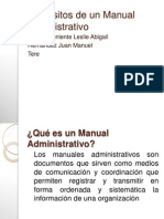 Requisitos de Un Manual Administrativo
