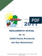 Reglamento Fiesta Gurí Entrerriano