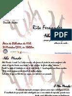 """Exposição de pintura """"Nha Mundo"""" de Rita Fernandes"""