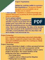 ICFAI P. A. Project Negotiation