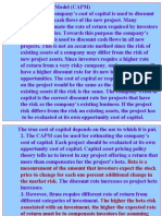 Project Appraisal Capital Allocation Frame work