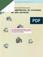 Soluciones constructivas para Rehabilitacion de viviendas de alta montaña
