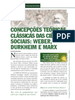 Concepções teóricas clássicas das ciências sociais