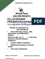 Jp Infotech 2011 Ieee Projects