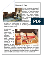 Infografía - sobre maquetas en papel