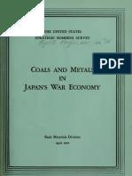 USSBS Report 36, Coal and Metals in Japan's War Economy