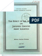 USSBS Report 64, The Effect of Air Action on Japanese Ground Army Logistics