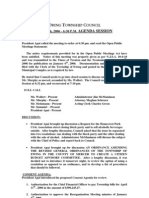Council Agenda 20060410