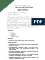 Council Agenda 20080421