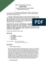 Council Minutes 20060508