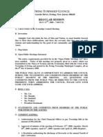 Council Agenda 20080513