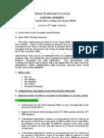 Council Agenda 20080811