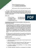 Council Minutes 20070123