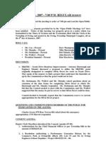Council Minutes 20070508