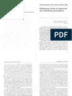 Tres capítulos de Cartografías de la Traducción (Carbonell i Cortes, editor)