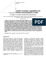 Consumption Pattern of Vegetables , Pulses in India